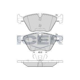 Bremsbelagsatz, Scheibenbremse Höhe 2: 63,37mm, Höhe: 63,4mm, Dicke/Stärke: 20,3mm mit OEM-Nummer 34 11 6 797 859