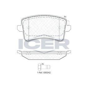 Bremsbelagsatz, Scheibenbremse Höhe: 58,63mm, Dicke/Stärke: 17,4mm mit OEM-Nummer 8K0 698 451E