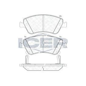 Bremsbelagsatz, Scheibenbremse Art. Nr. 181869 120,00€