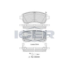Bremsbelagsatz, Scheibenbremse Breite: 125,6mm, Höhe: 51,5mm, Dicke/Stärke: 16,5mm mit OEM-Nummer 24285