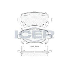 Bremsbelagsatz, Scheibenbremse Breite: 116,6mm, Höhe: 52,7mm, Dicke/Stärke: 16,8mm mit OEM-Nummer K6802-9887-AA