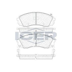 Bremsbelagsatz, Scheibenbremse Höhe: 63,4mm, Dicke/Stärke: 17,6mm mit OEM-Nummer 58101-4DA00