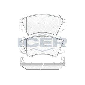 Bremsbelagsatz, Scheibenbremse Breite: 141,8mm, Höhe: 66,6mm, Dicke/Stärke: 19,3mm mit OEM-Nummer 1605317