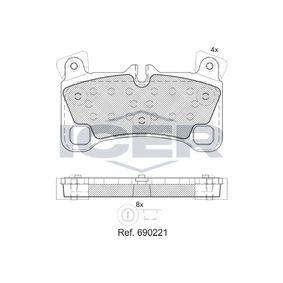 Bremsbelagsatz, Scheibenbremse Höhe: 71,1mm, Dicke/Stärke: 16mm mit OEM-Nummer 95535293961