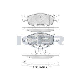 Bremsbelagsatz, Scheibenbremse Höhe 2: 52,59mm, Höhe: 52,62mm, Dicke/Stärke: 18mm mit OEM-Nummer 4106000Q0C