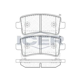 Brake Pad Set, disc brake Width: 106,4mm, Height: 47,2mm, Thickness: 17,7mm with OEM Number 22846359