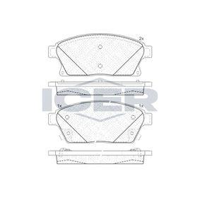 Bremsbelagsatz, Scheibenbremse Höhe: 61,2mm, Dicke/Stärke: 19mm mit OEM-Nummer 13301234