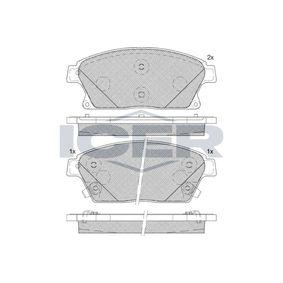 Bremsbelagsatz, Scheibenbremse Höhe: 61,2mm, Dicke/Stärke: 18,8mm mit OEM-Nummer 1605135
