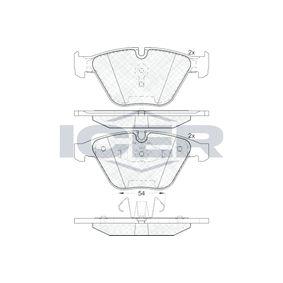 ICER  181940 Bremsbelagsatz, Scheibenbremse Höhe: 68,37mm, Dicke/Stärke: 20,3mm
