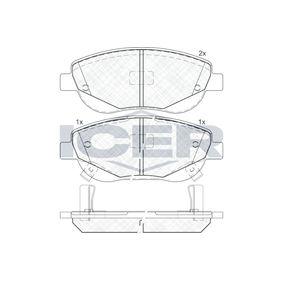 Bremsbelagsatz, Scheibenbremse Höhe: 61,1mm, Dicke/Stärke: 19,5mm mit OEM-Nummer 249.46