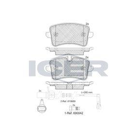 Bremsbelagsatz, Scheibenbremse Breite: 116,5mm, Höhe 2: 59,6mm, Höhe: 58,6mm, Dicke/Stärke: 17,4mm mit OEM-Nummer 4H0 698 451A
