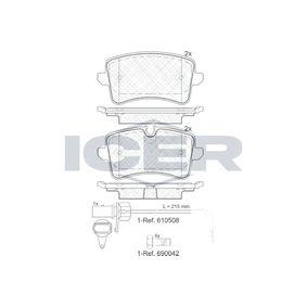 Kit de plaquettes de frein, frein à disque Hauteur 2: 59,6mm, Hauteur: 58,63mm, Épaisseur: 17,4mm avec OEM numéro 9A769845100