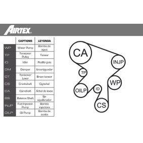 VW T4 Transporter 2.5 Syncro Wasserpumpe + Zahnriemensatz AIRTEX WPK-9274R02 (2.5 Syncro Benzin 2001 ACU)