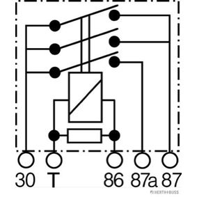 HERTH+BUSS ELPARTS Relais, Kraftstoffpumpe 75614616 für AUDI COUPE (89, 8B) 2.3 quattro ab Baujahr 05.1990, 134 PS