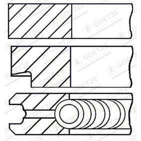 Segmentos de Pistón BMW X5 (E70) 3.0 d de Año 02.2007 235 CV: Juego de aros de pistón (08-421800-00) para de GOETZE ENGINE