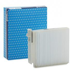 Filter, interior air Length: 207mm, Width: 182mm, Height: 42mm with OEM Number 7701059997