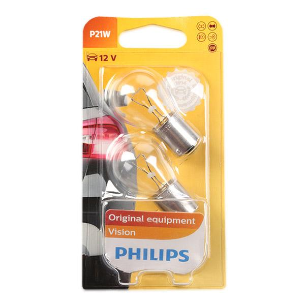 Bulb, indicator 12498B2 PHILIPS P21W original quality