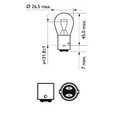 Bulb, brake / tail light PHILIPS 40485530 rating