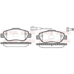 Bremsbelagsatz, Scheibenbremse Höhe: 51,7mm, Dicke/Stärke: 17,4mm mit OEM-Nummer 77 364 477