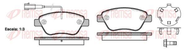REMSA  0858.32 Bremsbelagsatz, Scheibenbremse Höhe: 53,3mm, Dicke/Stärke: 17,8mm