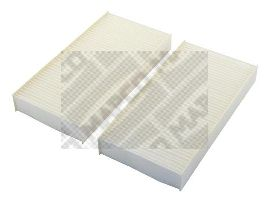 MAPCO  65504 Filter, interior air Length: 225mm, Width: 111mm, Height: 30mm