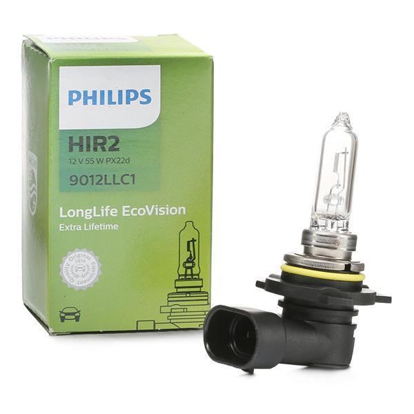 Glühlampe, Fernscheinwerfer 9012LLC1 PHILIPS HIR2 in Original Qualität