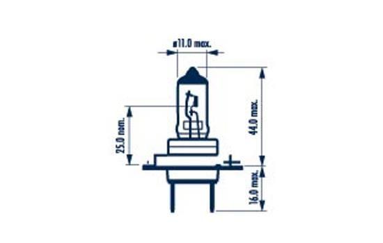 Bulb, spotlight 48339 NARVA H7 original quality
