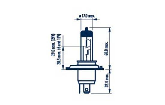 Glühlampe, Fernscheinwerfer 48898 NARVA H4 in Original Qualität
