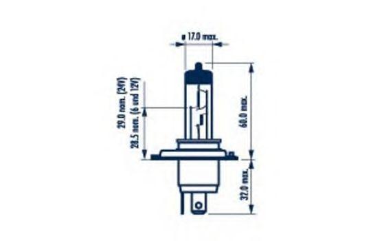 Glühlampe, Fernscheinwerfer 98654 NARVA H4 in Original Qualität