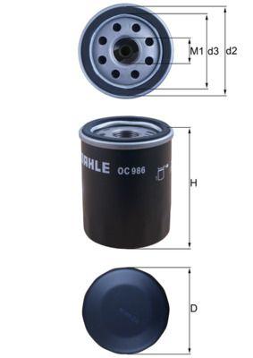 Filtro de aceite de motor MAHLE ORIGINAL OC986 conocimiento experto