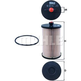 Fuel filter Height: 132mm with OEM Number 2E0 127 177