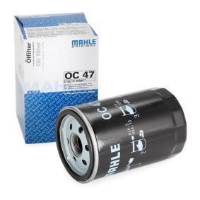MAHLE ORIGINAL Ölfilter OC 47 für AUDI COUPE (89, 8B) 2.3 quattro ab Baujahr 05.1990, 134 PS
