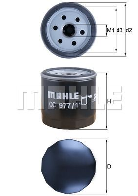 MAHLE ORIGINAL OC 977/1 EAN:4009026887516 Shop