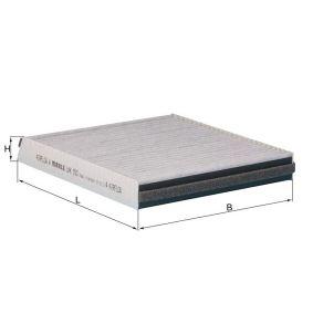 MAHLE ORIGINAL  LAK 593 Filter, Innenraumluft Breite: 194,0mm, Höhe: 30,0mm