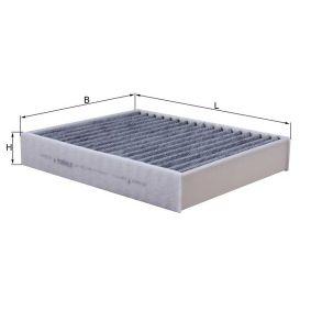 Filter, Innenraumluft Breite: 198,0mm, Höhe: 40,0mm mit OEM-Nummer 64116821995
