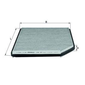 MAHLE ORIGINAL  LAK 23 Filter, Innenraumluft Breite: 182,0mm, Höhe: 17,0mm