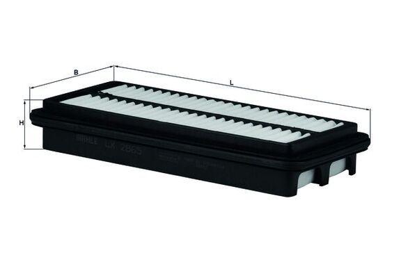 MAHLE ORIGINAL  LX 2865 Filtro de aire Ancho: 111,5mm, Altura: 39,0mm, Long. total: 250,0mm