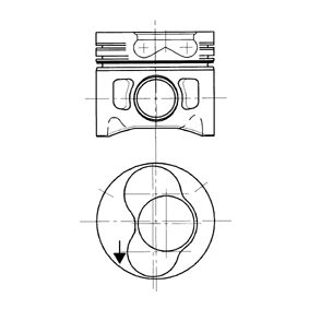 Kolben für VW TRANSPORTER IV Bus (70XB, 70XC, 7DB, 7DW) 2.5 TDI 102 PS ab Baujahr 09.1995 KOLBENSCHMIDT Kolben (99742700) für