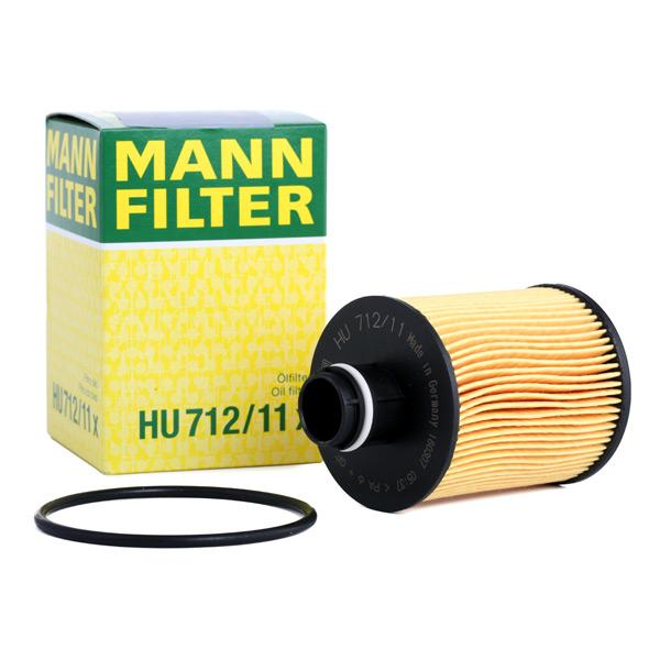 Filtro de aceite de motor MANN-FILTER HU712/11x conocimiento experto