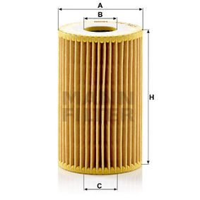 Oil Filter Ø: 65mm, Inner Diameter: 26mm, Inner Diameter 2: 26mm, Height: 104mm with OEM Number 26320-3C30A