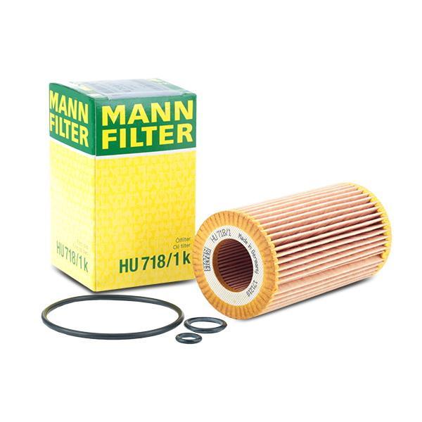 Filtro de aceite de motor MANN-FILTER HU718/1k conocimiento experto
