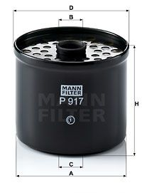Article № P 917 x MANN-FILTER prices