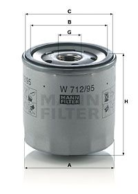 MANN-FILTER W712/95 EAN:4011558023782 negozio online