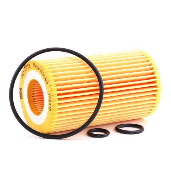 Filtro de aceite de motor MANN-FILTER HU 7010 z 4011558016708