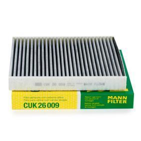 Filter, Innenraumluft Länge: 254mm, Breite: 235mm, Höhe: 32mm mit OEM-Nummer 5QD 819 653