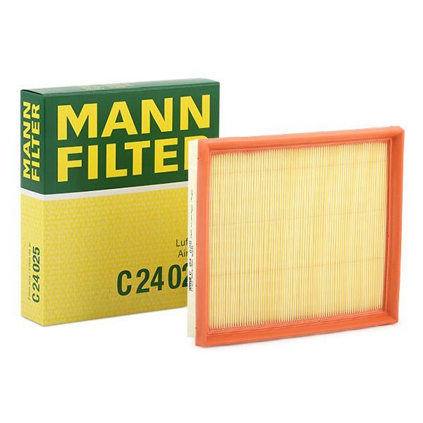 Luftfilter C 24 025 MANN-FILTER C 24 025 af original kvalitet