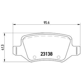 Brake Pad Set, disc brake Width: 95,6mm, Height: 41,3mm, Thickness: 14,6mm with OEM Number 169 420 11 20