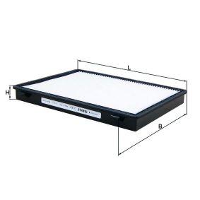 Filter, Innenraumluft Länge: 273mm, Breite: 207, 207,0mm, Höhe: 27mm mit OEM-Nummer 95 599 725