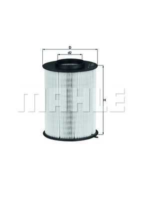 Air Filter MAHLE ORIGINAL LX 1780/3 expert knowledge
