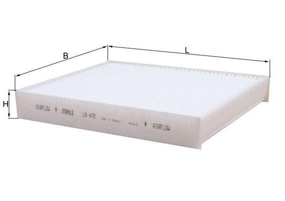 Filtro de aire acondicionado MAHLE ORIGINAL LAK472 conocimiento experto
